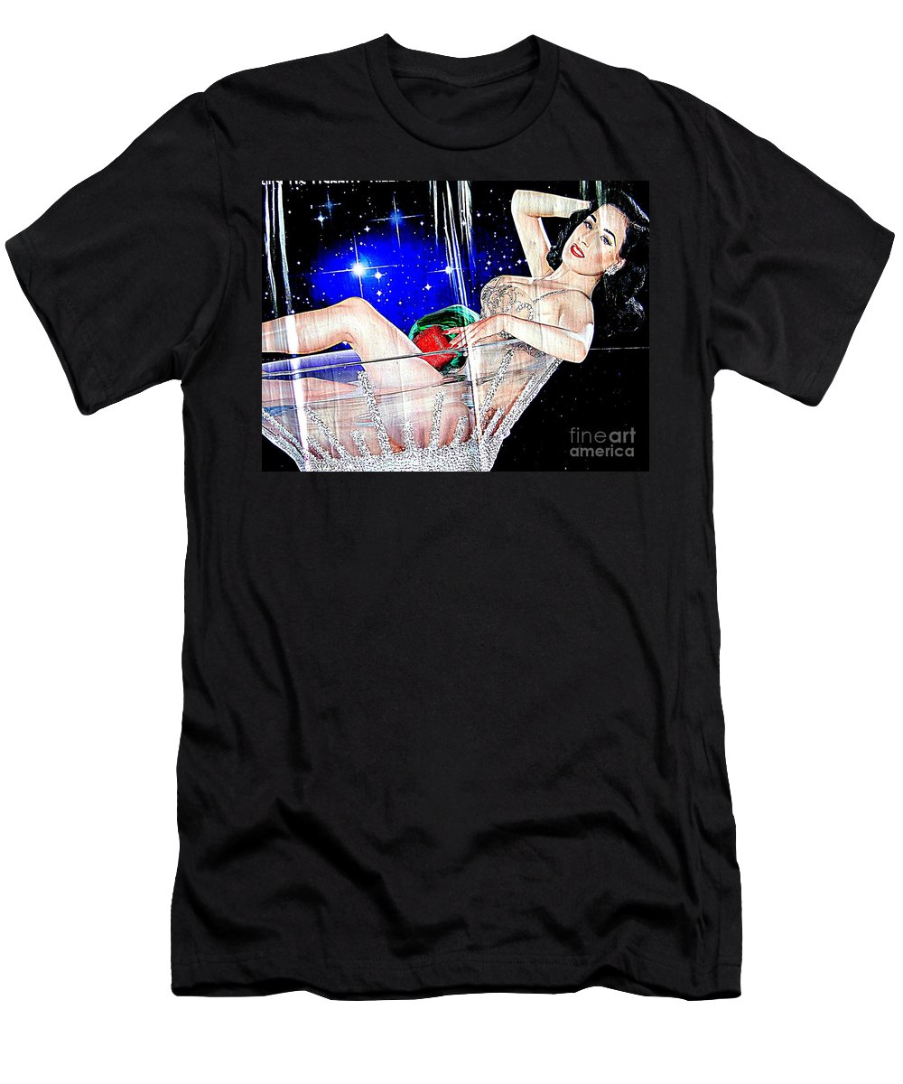 Dita Von Teese Men's T-Shirt (Athletic Fit) featuring the photograph Burlesque Queen Dita by Ed Weidman