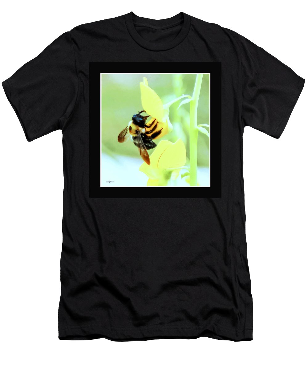 Busy Bee Men's T-Shirt (Athletic Fit) featuring the photograph Busy Bee by Mechala Matthews