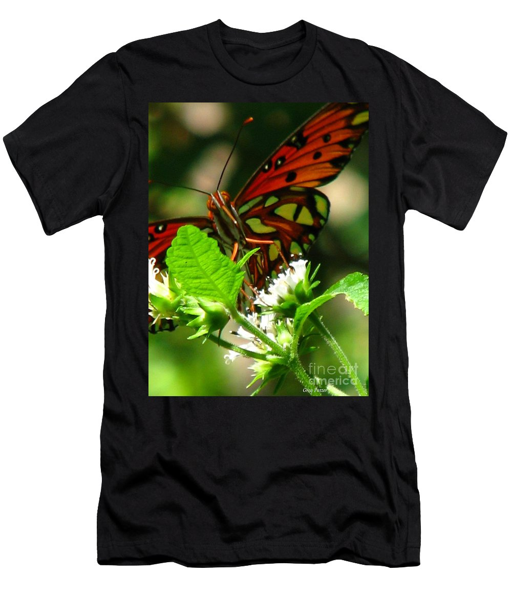 Patzer Men's T-Shirt (Athletic Fit) featuring the photograph Butterfly Art by Greg Patzer