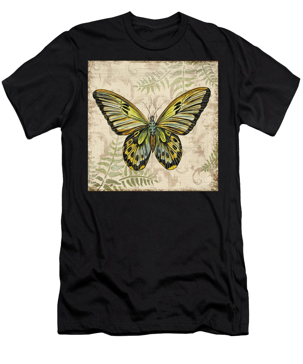 Painting Men's T-Shirt (Athletic Fit) featuring the painting Butterfly Daydreams-a by Jean Plout