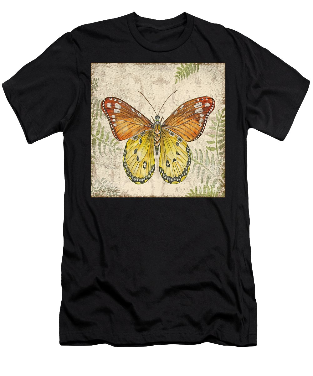 Painting Men's T-Shirt (Athletic Fit) featuring the painting Butterfly Daydreams-c by Jean Plout