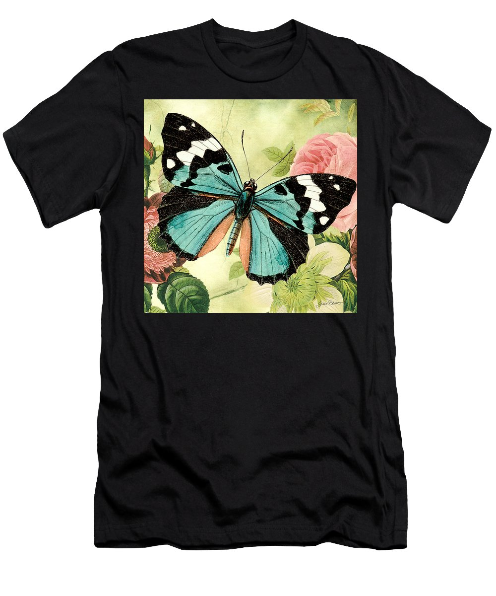 Digital Art Men's T-Shirt (Athletic Fit) featuring the digital art Butterfly Visions-b by Jean Plout