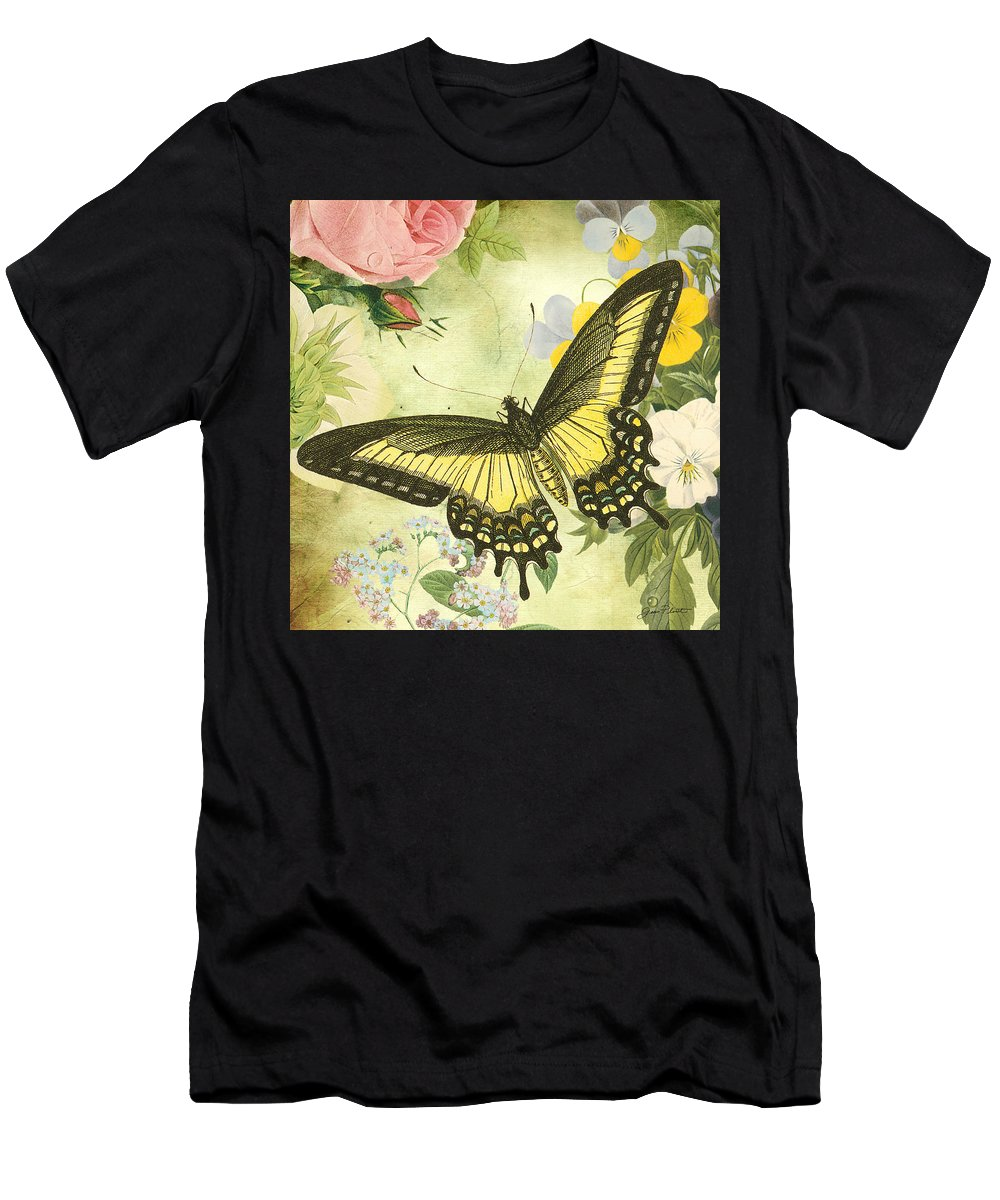 Digital Art Men's T-Shirt (Athletic Fit) featuring the digital art Butterfly Visions-d by Jean Plout