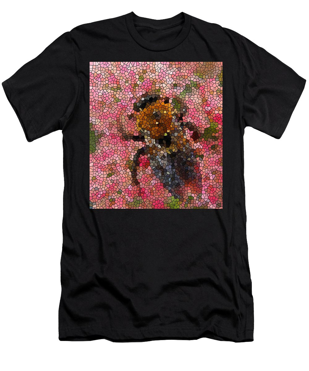 Men's T-Shirt (Athletic Fit) featuring the photograph Buzzing Bumblebee by Chris Berry