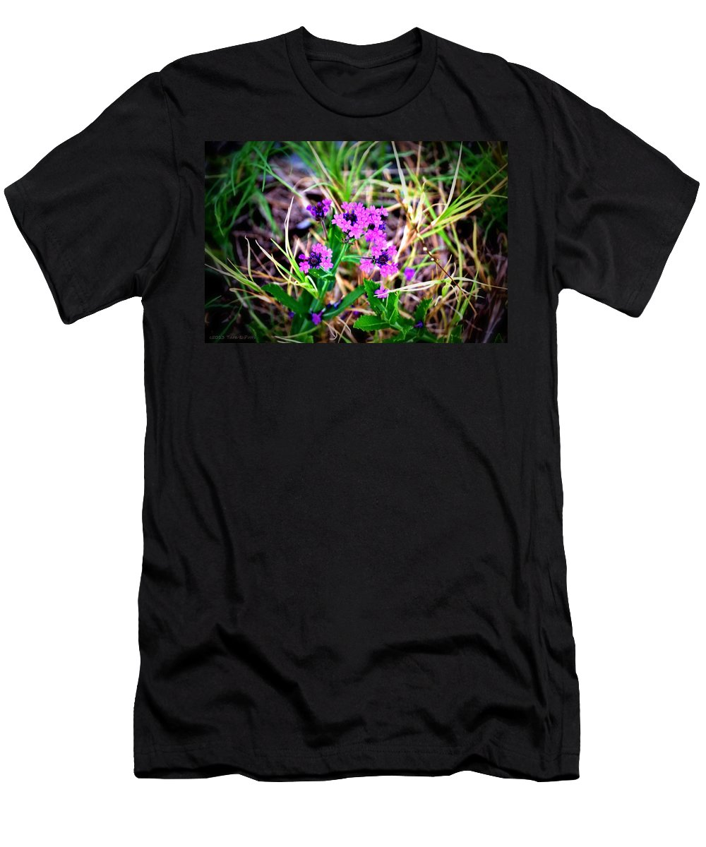 Roadside Men's T-Shirt (Athletic Fit) featuring the photograph By The Roadside by Tara Potts