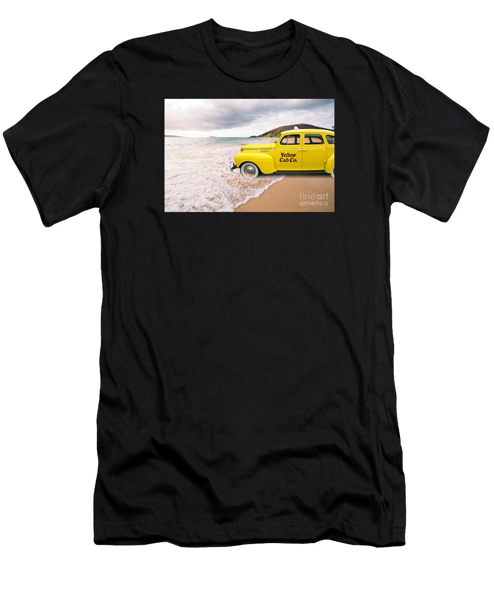 Hawaii Men's T-Shirt (Athletic Fit) featuring the photograph Cab Fare To Maui by Edward Fielding