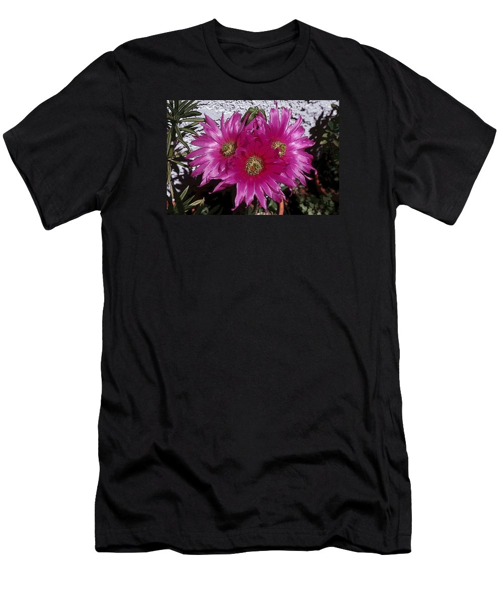 Cactus Men's T-Shirt (Athletic Fit) featuring the photograph Cactus 2-1 by Andy Shomock