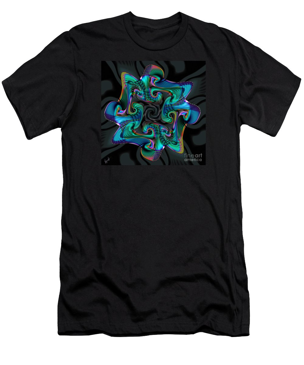 Cadenza Men's T-Shirt (Athletic Fit) featuring the digital art Cadenza by Kimberly Hansen