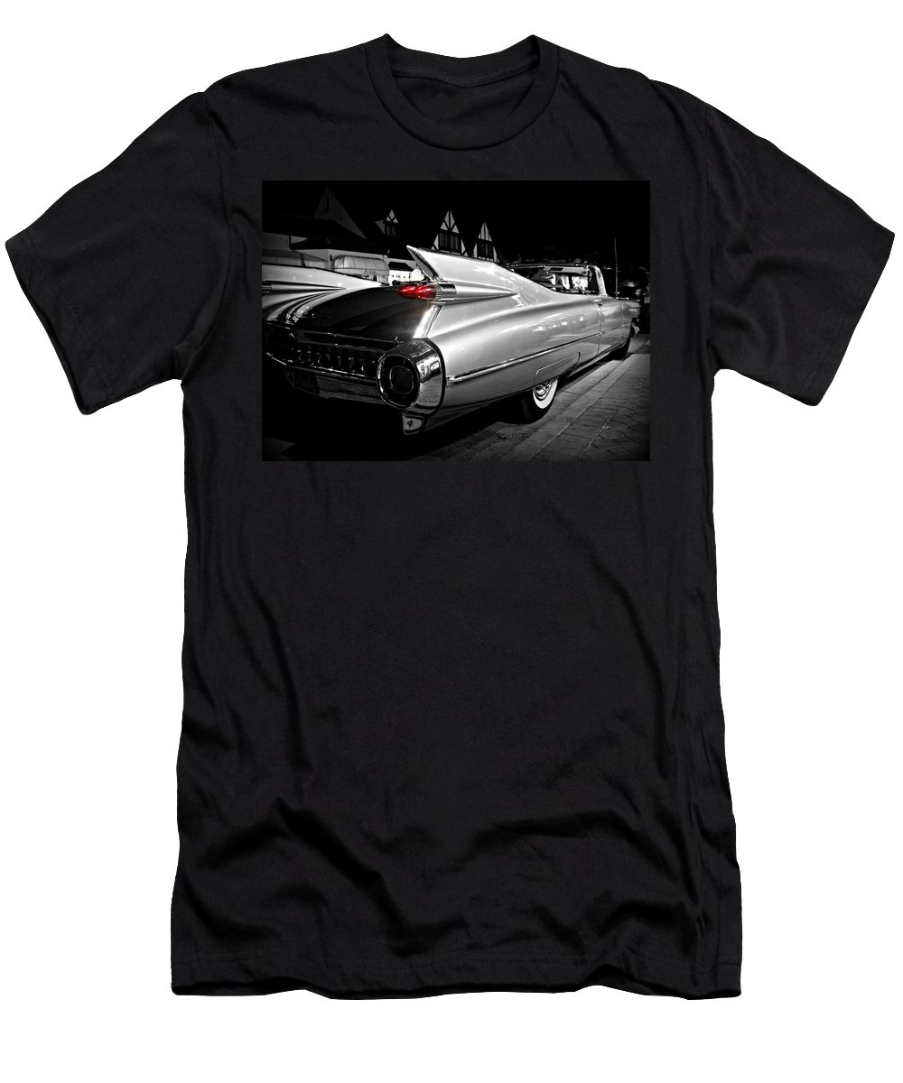 Cadillac Men's T-Shirt (Athletic Fit) featuring the photograph Cadillac Noir by Steve Natale