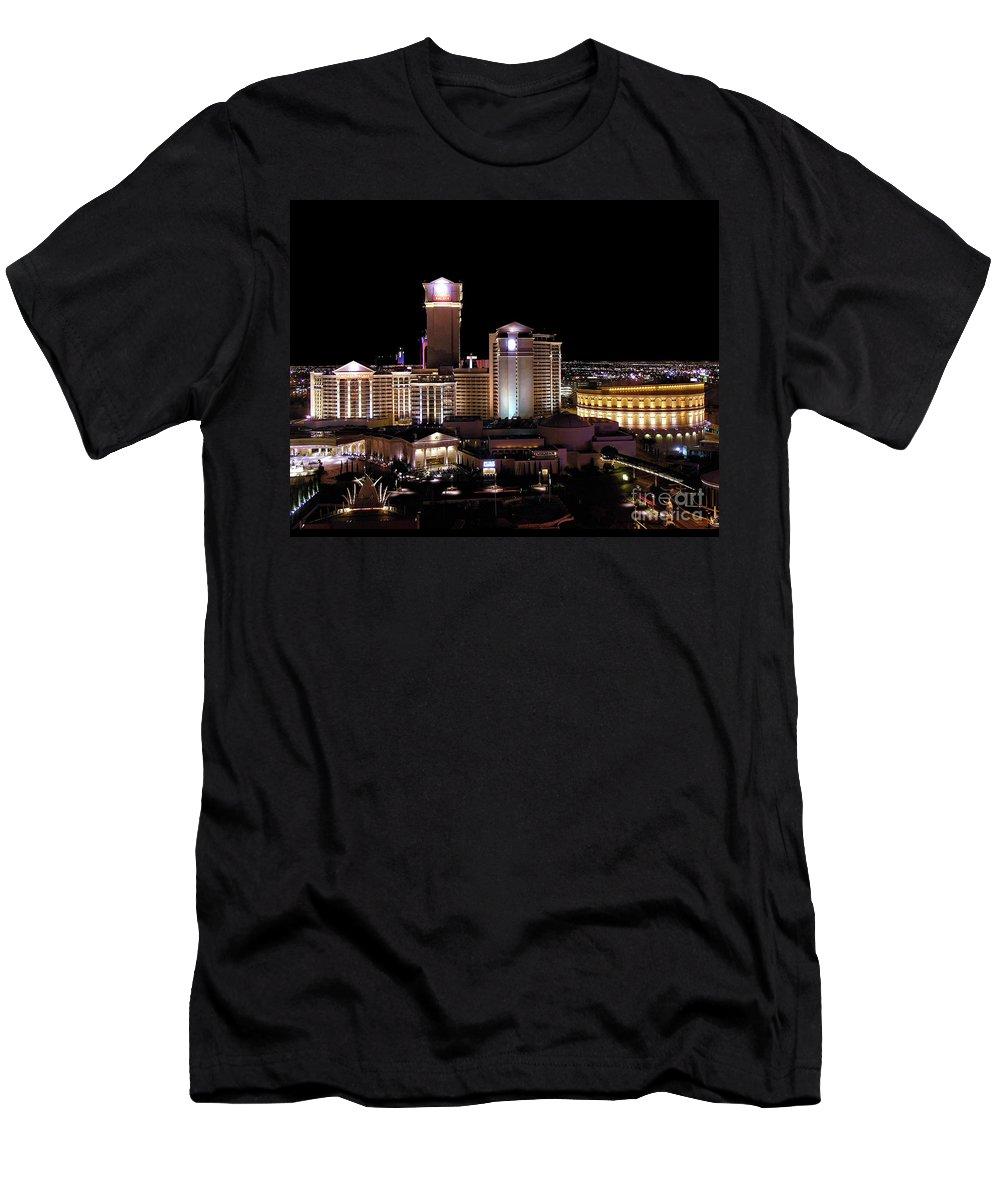 Caesars Men's T-Shirt (Athletic Fit) featuring the photograph Caesars Palace - Las Vegas by John Waclo