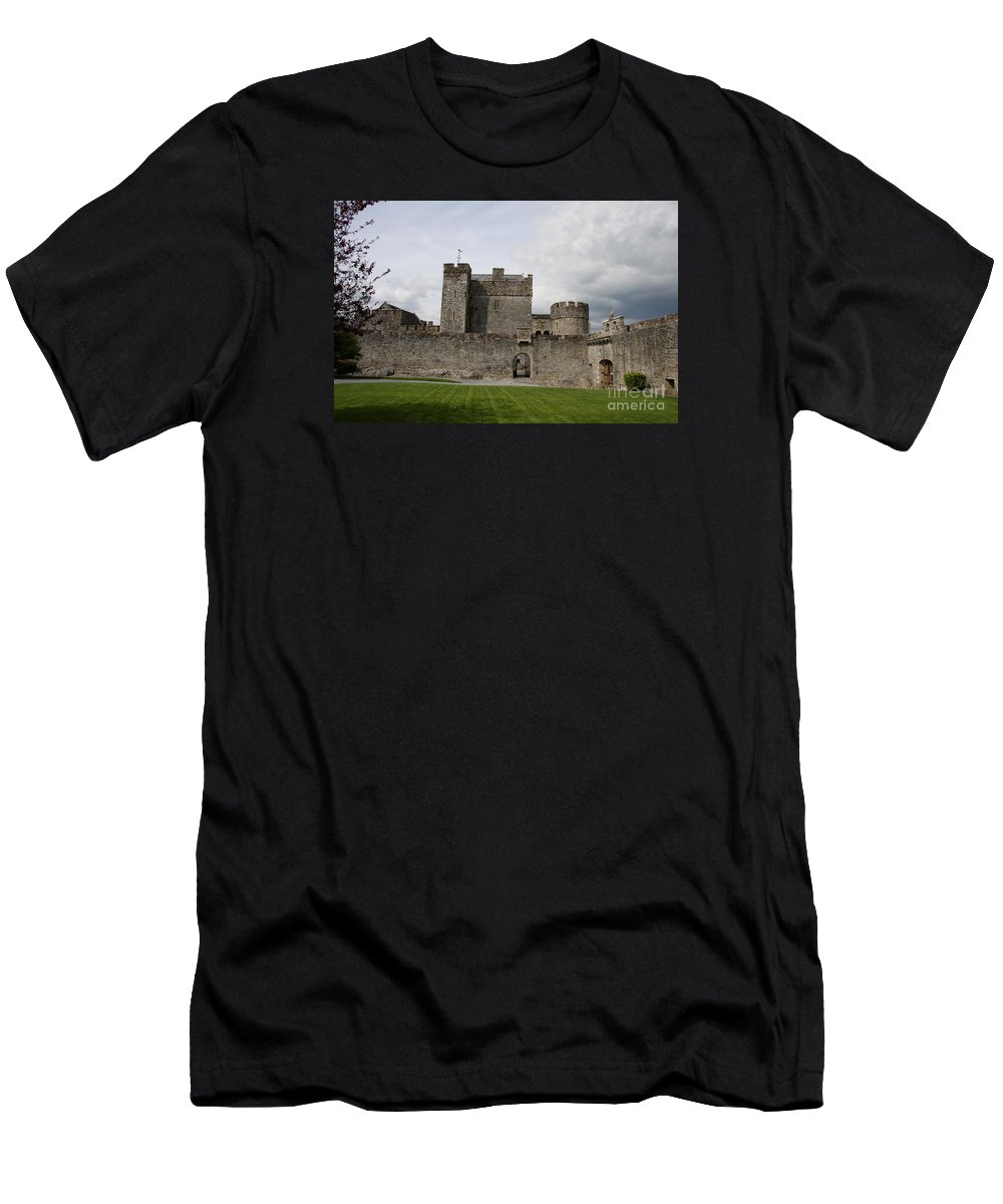 Cahir Castle Men's T-Shirt (Athletic Fit) featuring the photograph Cahir's Castle Second Courtyard by Christiane Schulze Art And Photography