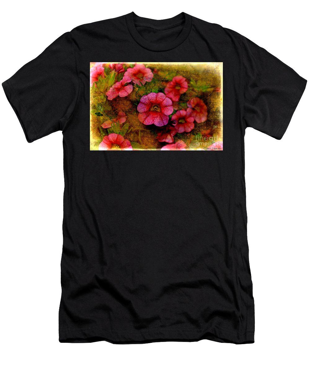 Nature Men's T-Shirt (Athletic Fit) featuring the photograph Calibrachoa Photoart I by Debbie Portwood