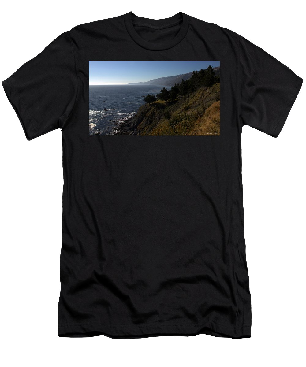 California Coast Men's T-Shirt (Athletic Fit) featuring the photograph California Coast by Ed Smith