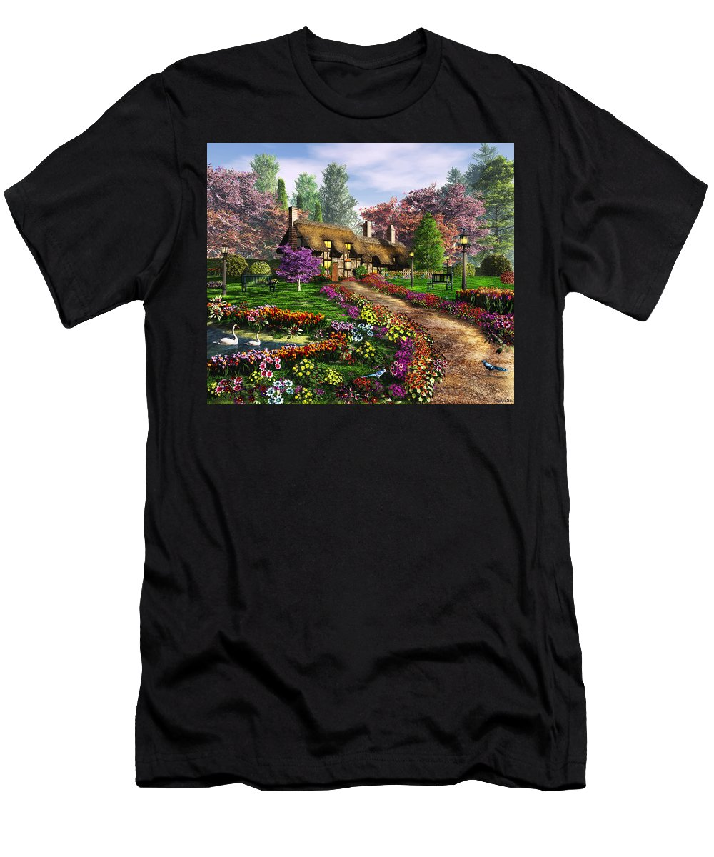 Art Licensing Men's T-Shirt (Athletic Fit) featuring the mixed media Call Of The Bluejay by Caplyn Dor