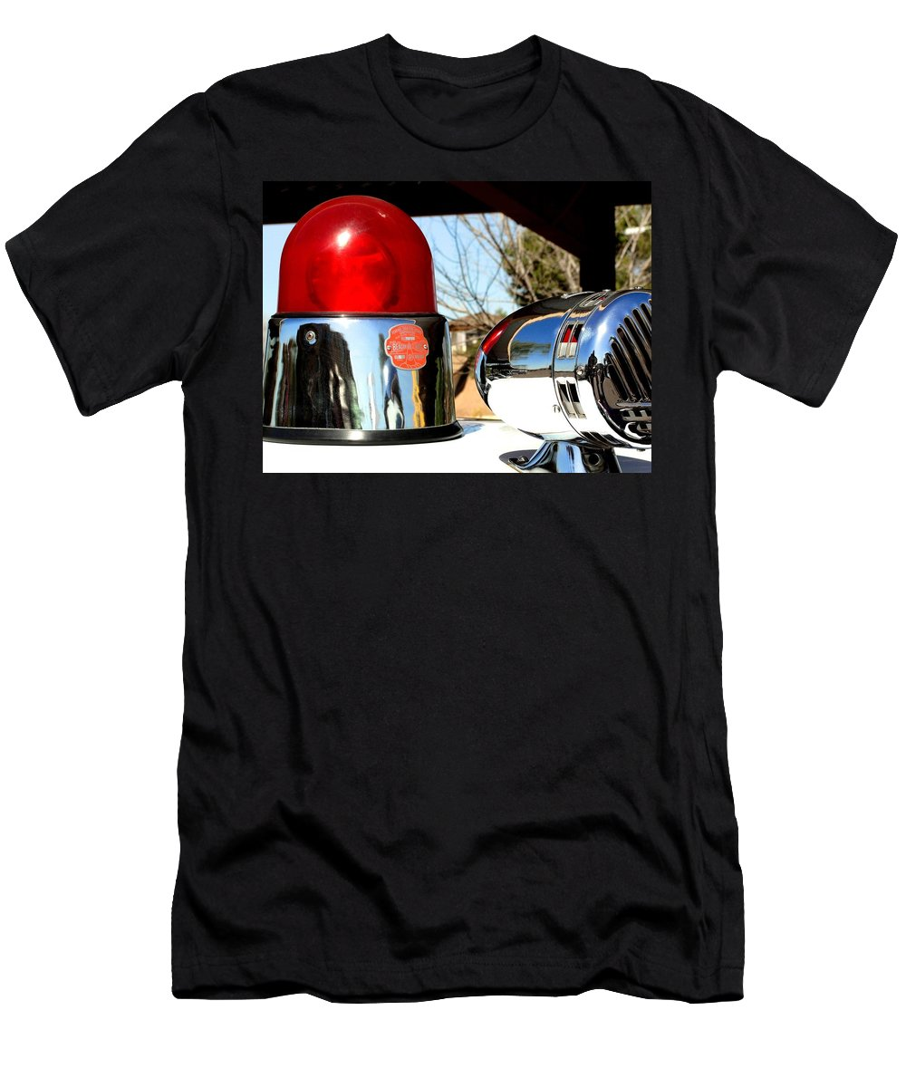 Antique Police Siren Men's T-Shirt (Athletic Fit) featuring the photograph Calling All Cars by Natalie Ortiz