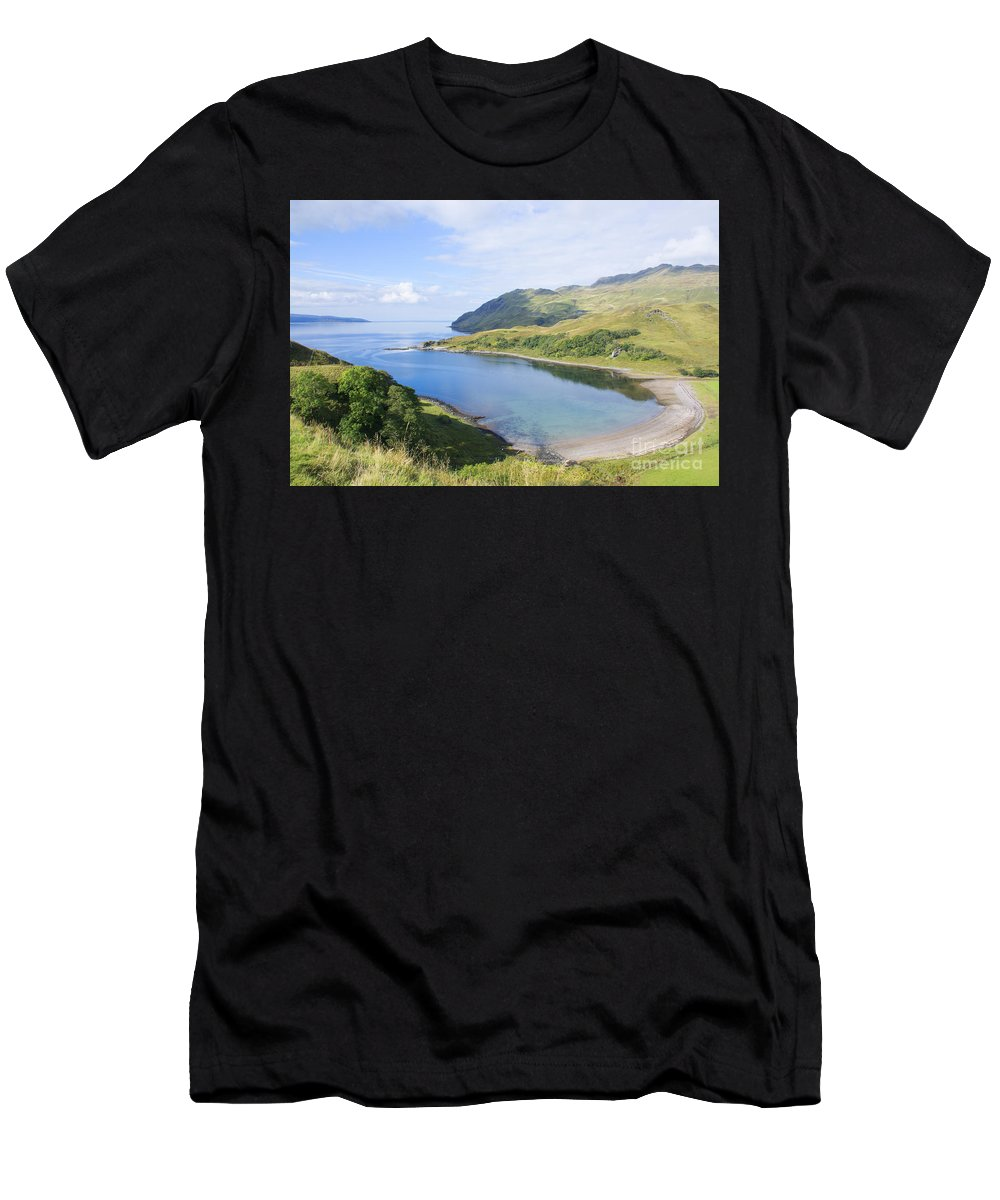 Camas Nan Geall Men's T-Shirt (Athletic Fit) featuring the photograph Camas Nan Geall Ardnamurchan Scotland by Chris Thaxter