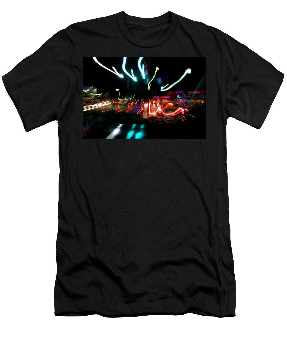 Light Painting Men's T-Shirt (Athletic Fit) featuring the photograph Cambridge Lights by Allan Morrison