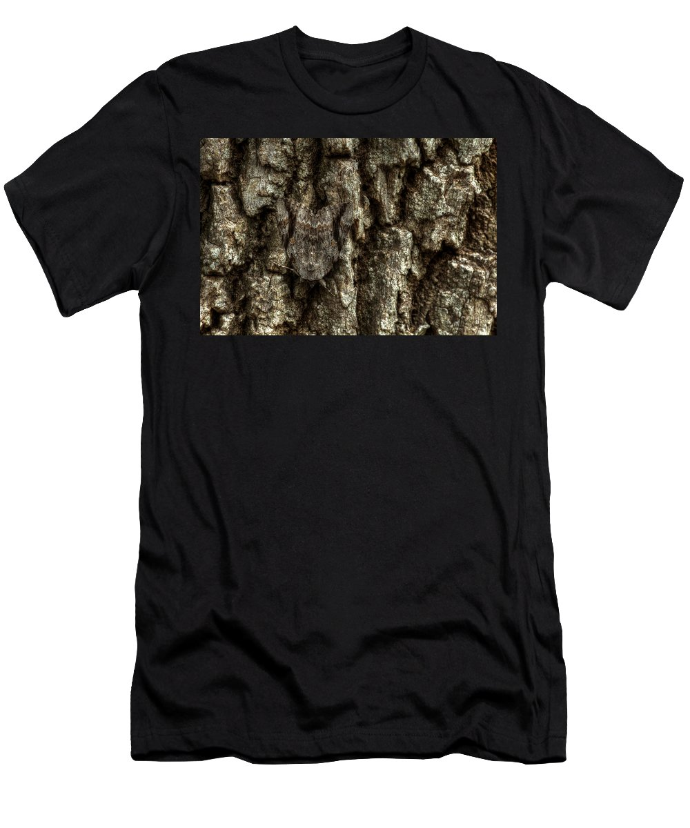 Moth Men's T-Shirt (Athletic Fit) featuring the photograph Camo Moth by Jonathan Davison