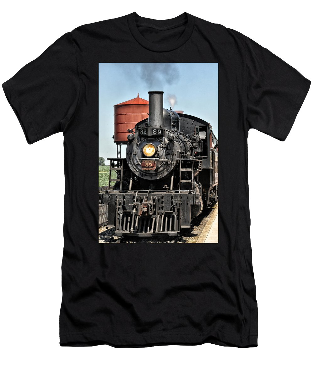 Canadian Men's T-Shirt (Athletic Fit) featuring the photograph Canadian National Railway 89 by Bill Cannon