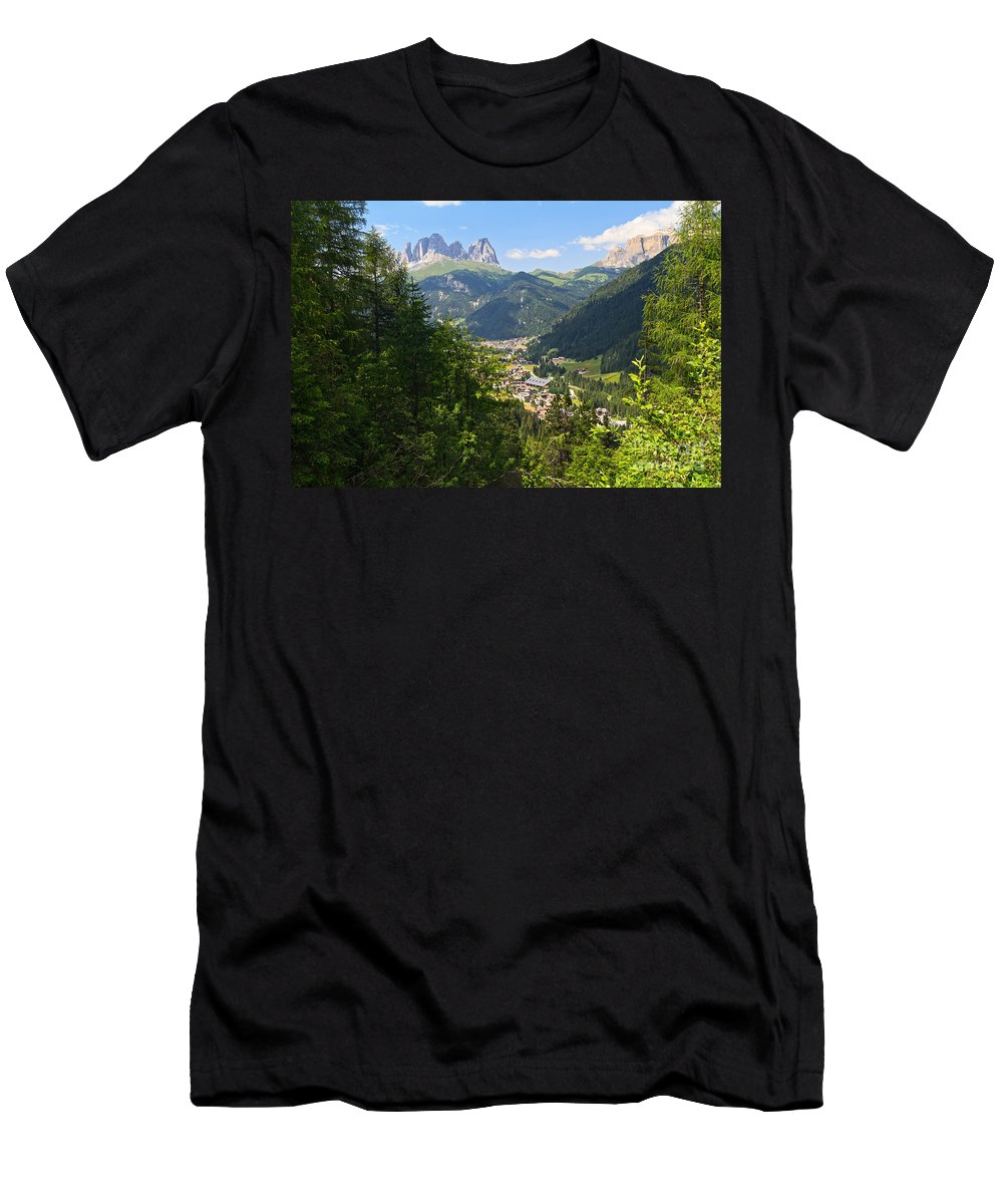 Alpine Men's T-Shirt (Athletic Fit) featuring the photograph Canazei - Val Di Fassa by Antonio Scarpi