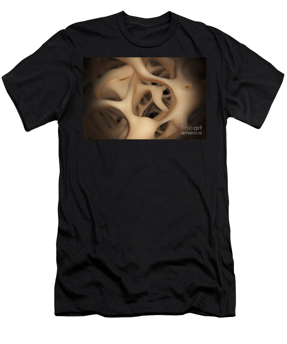 Horizontal Men's T-Shirt (Athletic Fit) featuring the photograph Cancellous Bone by Science Picture Co