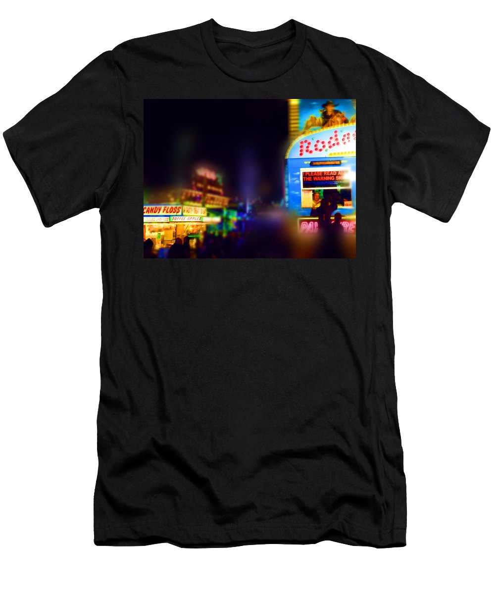 Sugar Candy T-Shirt featuring the painting Candy Floss Rodeo by Charles Stuart