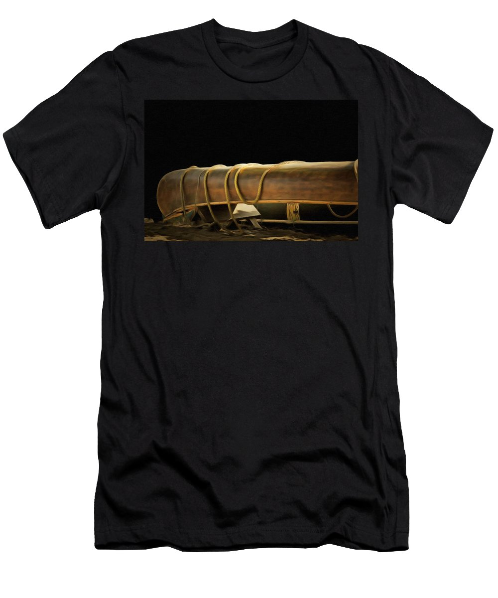 Canoe Men's T-Shirt (Athletic Fit) featuring the painting Canoe by L Wright