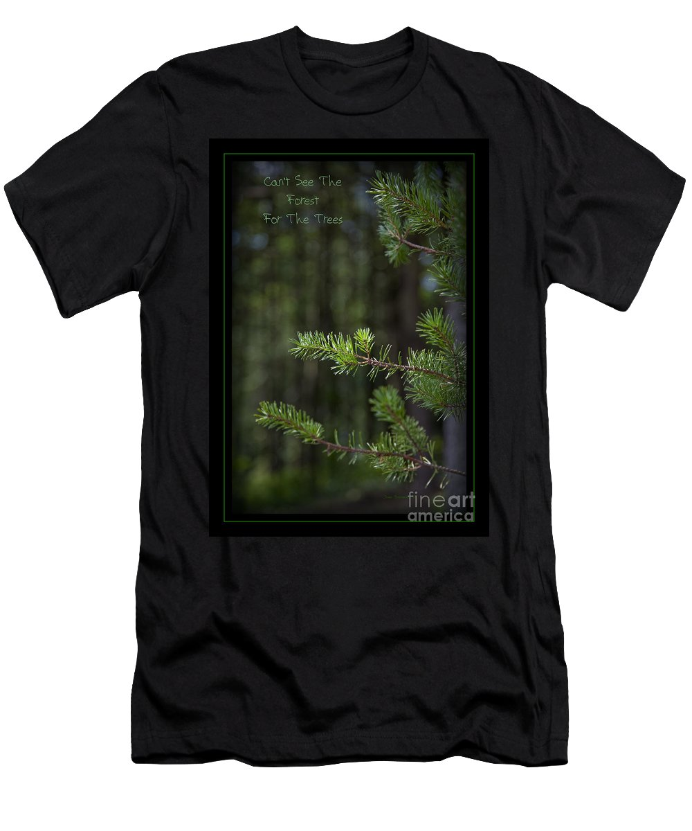 Forest Men's T-Shirt (Athletic Fit) featuring the photograph Can't See The Forest For The Trees by John Stephens
