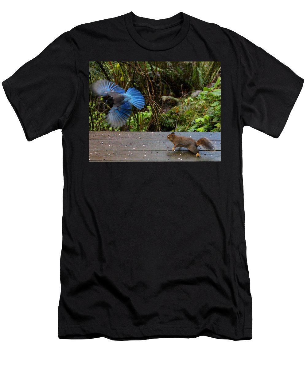 Mammals Men's T-Shirt (Athletic Fit) featuring the photograph Can't We All Just Get Along? by Kym Backland