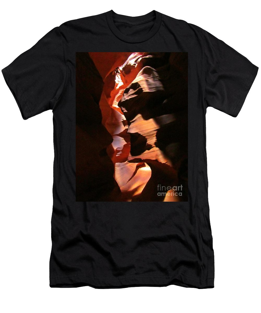 Canyon Shadows Men's T-Shirt (Athletic Fit) featuring the photograph Canyon Shadows by John Malone