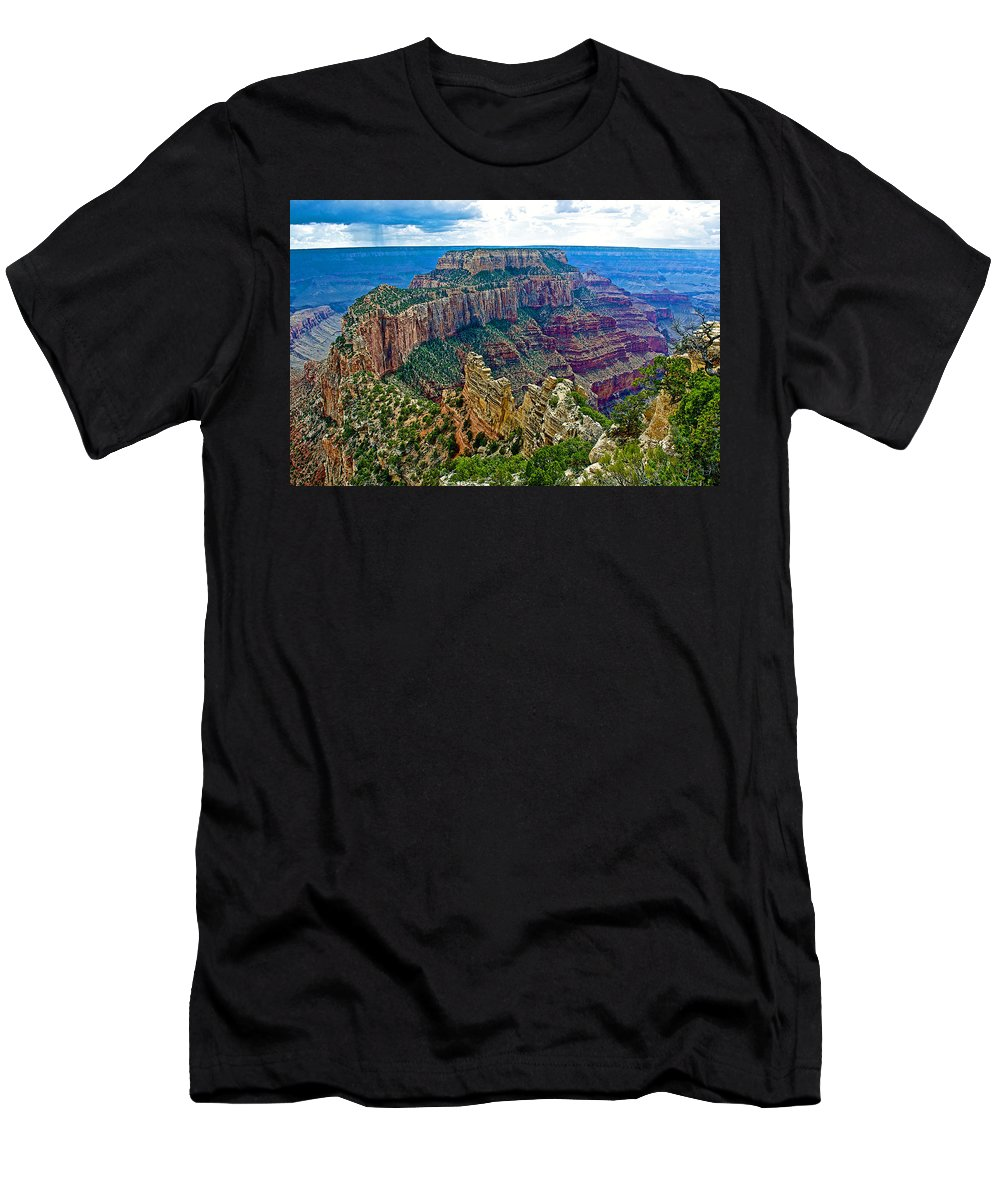 Cape Royal On North Rim/grand Canyon National Park Men's T-Shirt (Athletic Fit) featuring the photograph Cape Royal On North Rim Of Grand Canyon-arizona by Ruth Hager