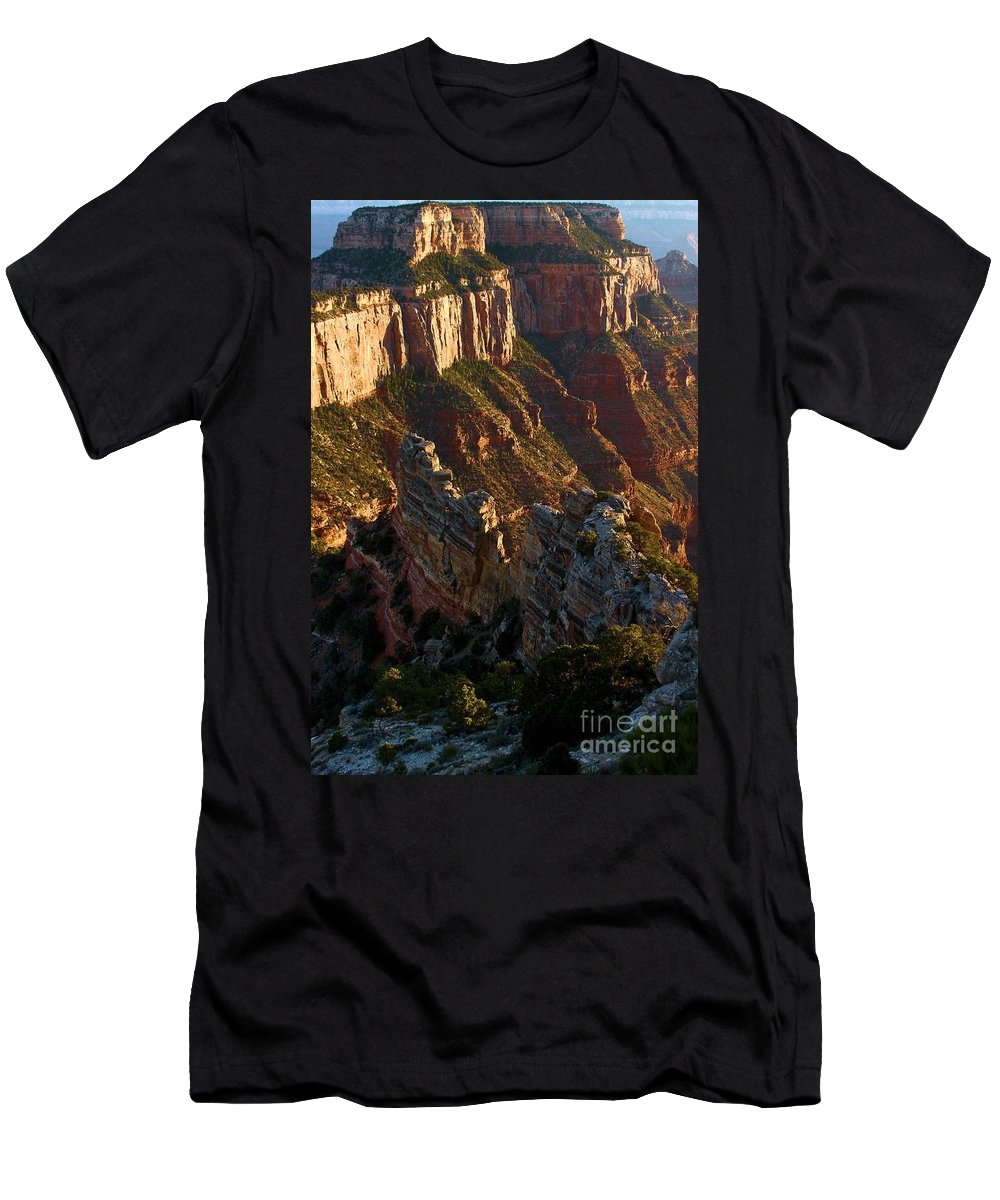 Grand Canyon Men's T-Shirt (Athletic Fit) featuring the photograph Cape Royal Portrait by Adam Jewell