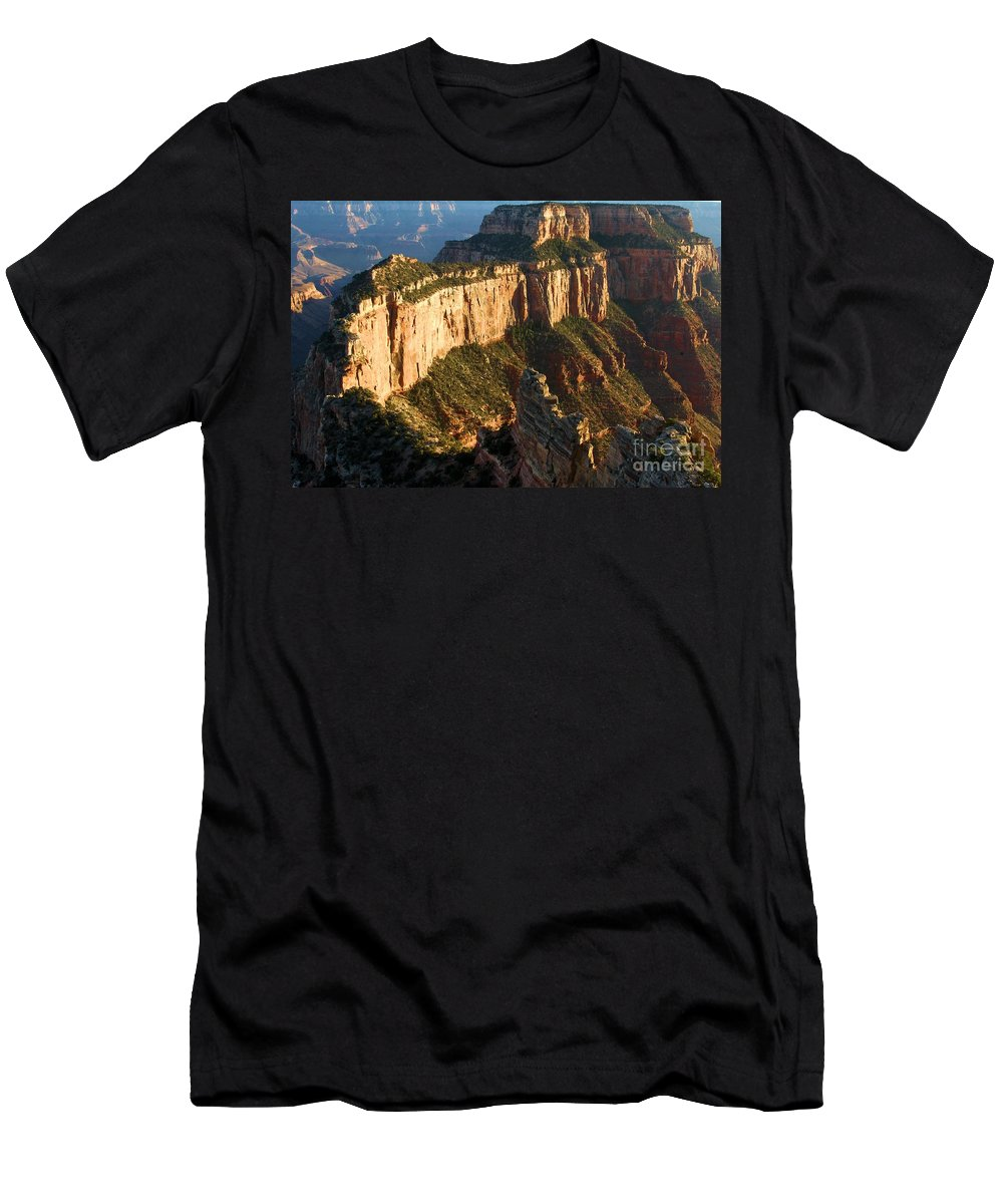 Grand Canyon Men's T-Shirt (Athletic Fit) featuring the photograph Cape Royal Sunset by Adam Jewell