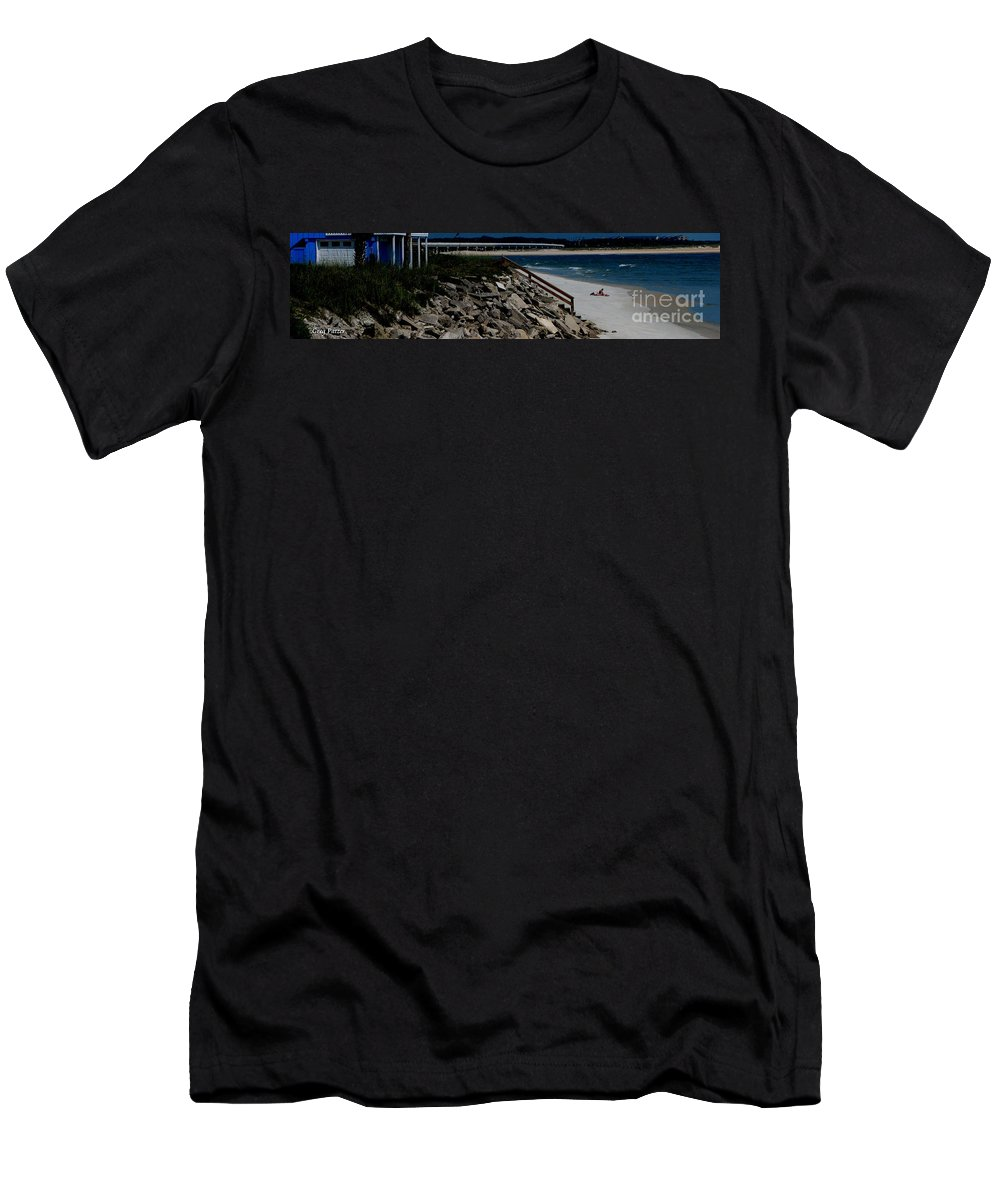 Beach Front Men's T-Shirt (Athletic Fit) featuring the photograph Caribbean Colors by Greg Patzer