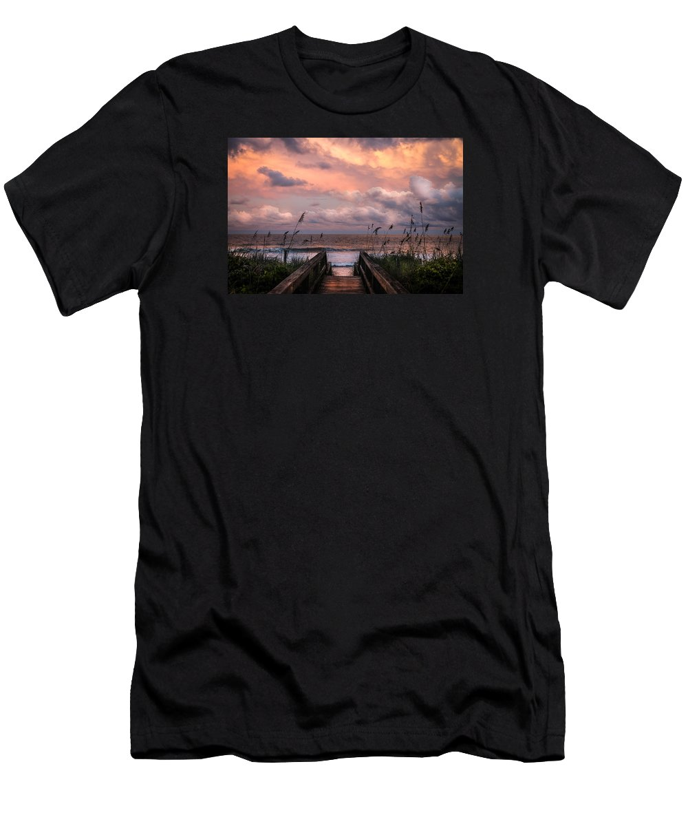 Beaches Men's T-Shirt (Athletic Fit) featuring the photograph Carolina Dreams by Karen Wiles