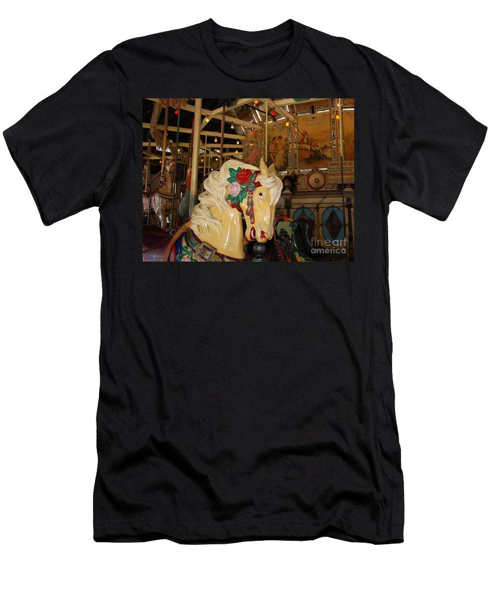 Claudia's Art Dream Men's T-Shirt (Athletic Fit) featuring the photograph Balboa Park Carousel by Claudia Ellis