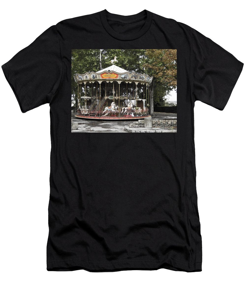 Carousel Men's T-Shirt (Athletic Fit) featuring the photograph Carousel by Victoria Harrington