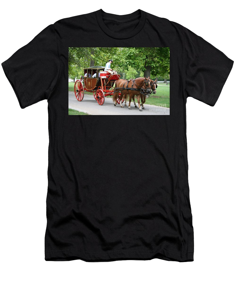 Carriage Men's T-Shirt (Athletic Fit) featuring the photograph Carriage by Christiane Schulze Art And Photography