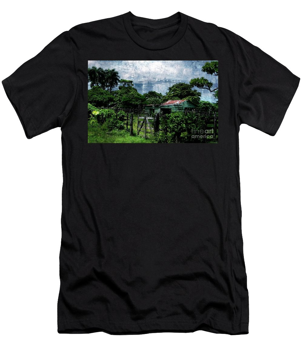 Green House Men's T-Shirt (Athletic Fit) featuring the photograph Casa Verde by Lilliana Mendez