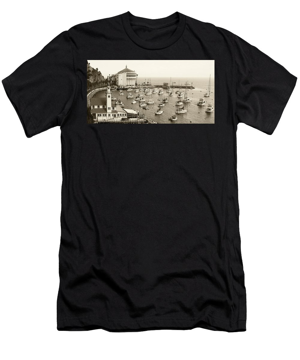 St. Catalina Men's T-Shirt (Athletic Fit) featuring the photograph Catalina Island. Avalon by Ben and Raisa Gertsberg