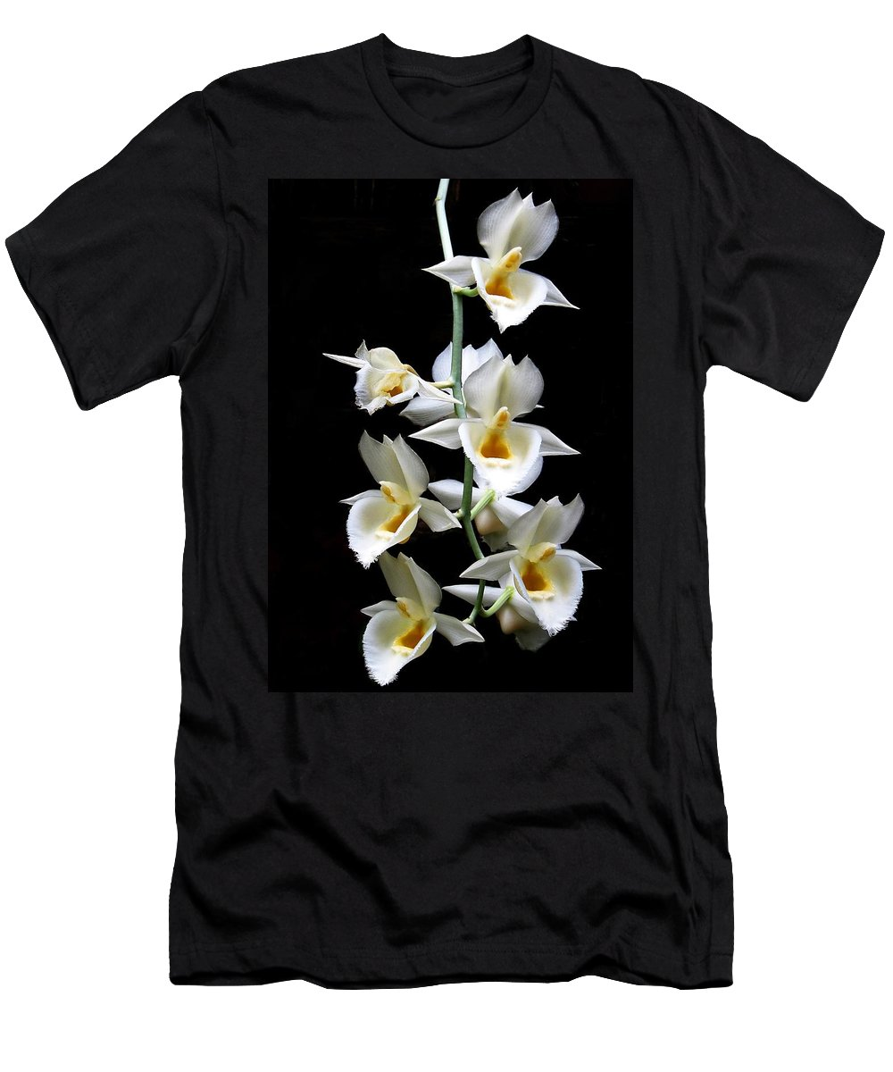 Orchid Men's T-Shirt (Athletic Fit) featuring the photograph Catasetum Pileatum Orchid by Rudy Umans
