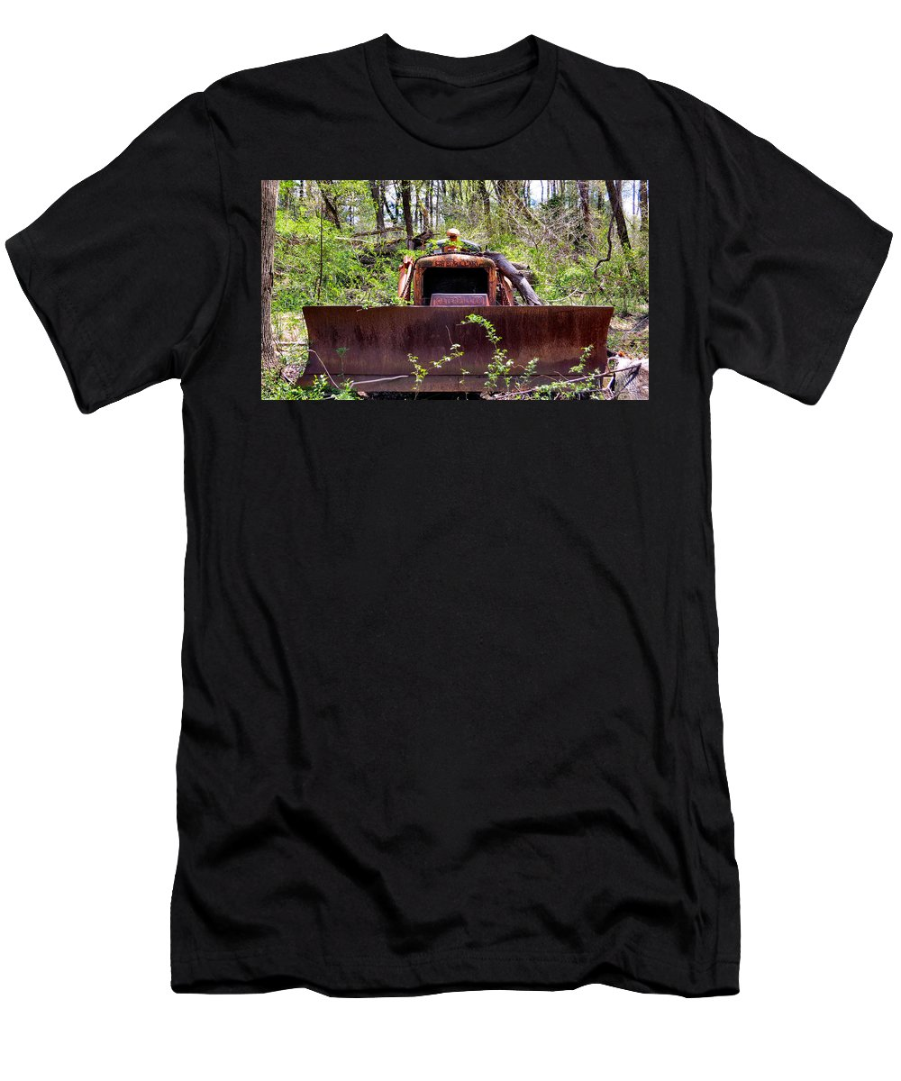Caterpillar Men's T-Shirt (Athletic Fit) featuring the photograph Caterpillar Rough by Art Dingo
