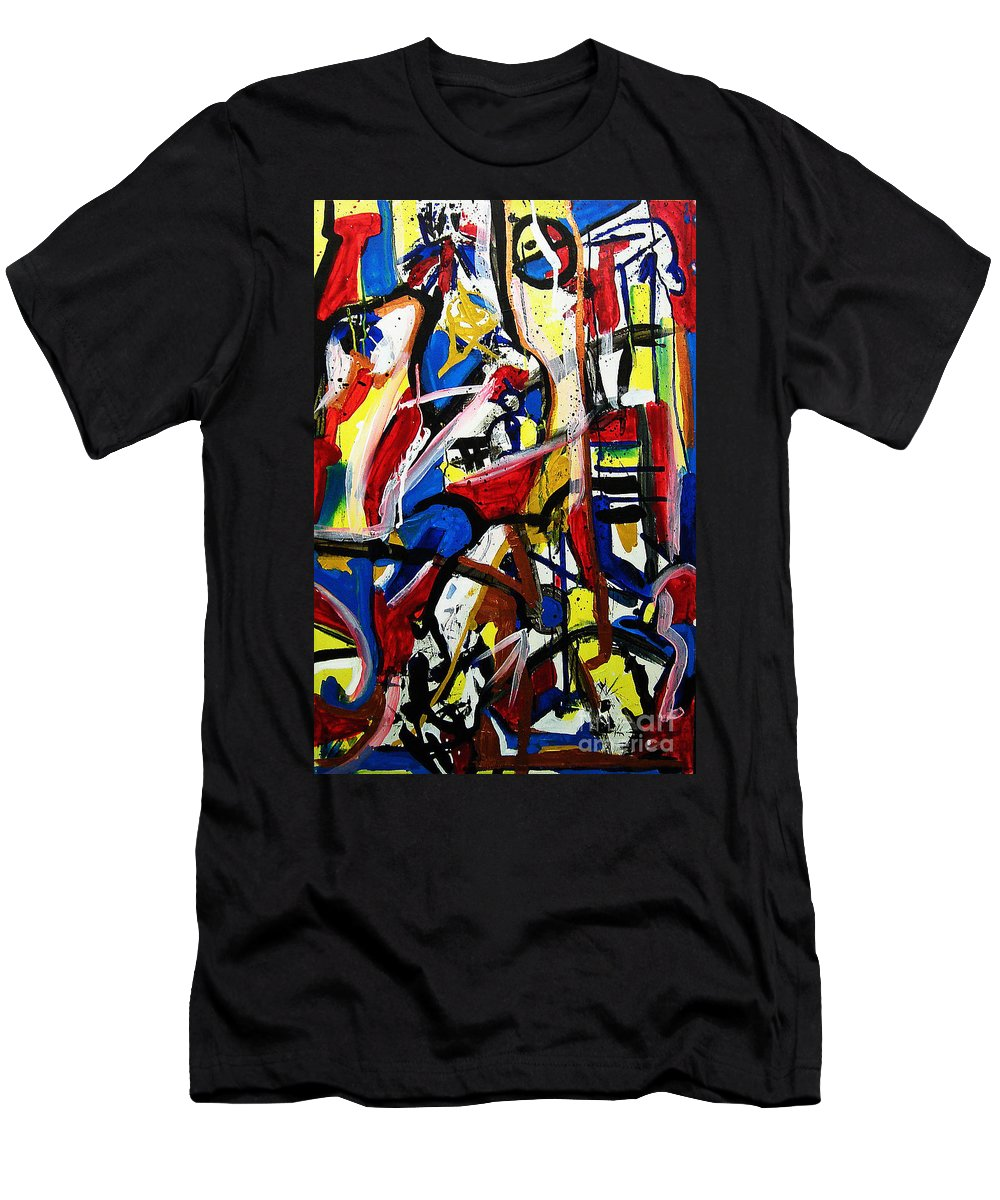 Painting Men's T-Shirt (Athletic Fit) featuring the painting Catharsis by Jeff Barrett