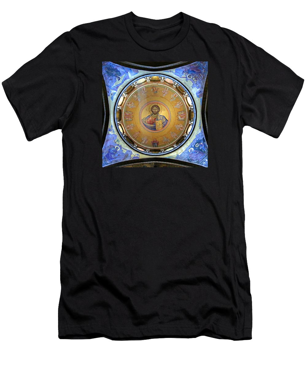 Christ Pantocrator Men's T-Shirt (Athletic Fit) featuring the photograph Catholicon No. 2 by Stephen Stookey