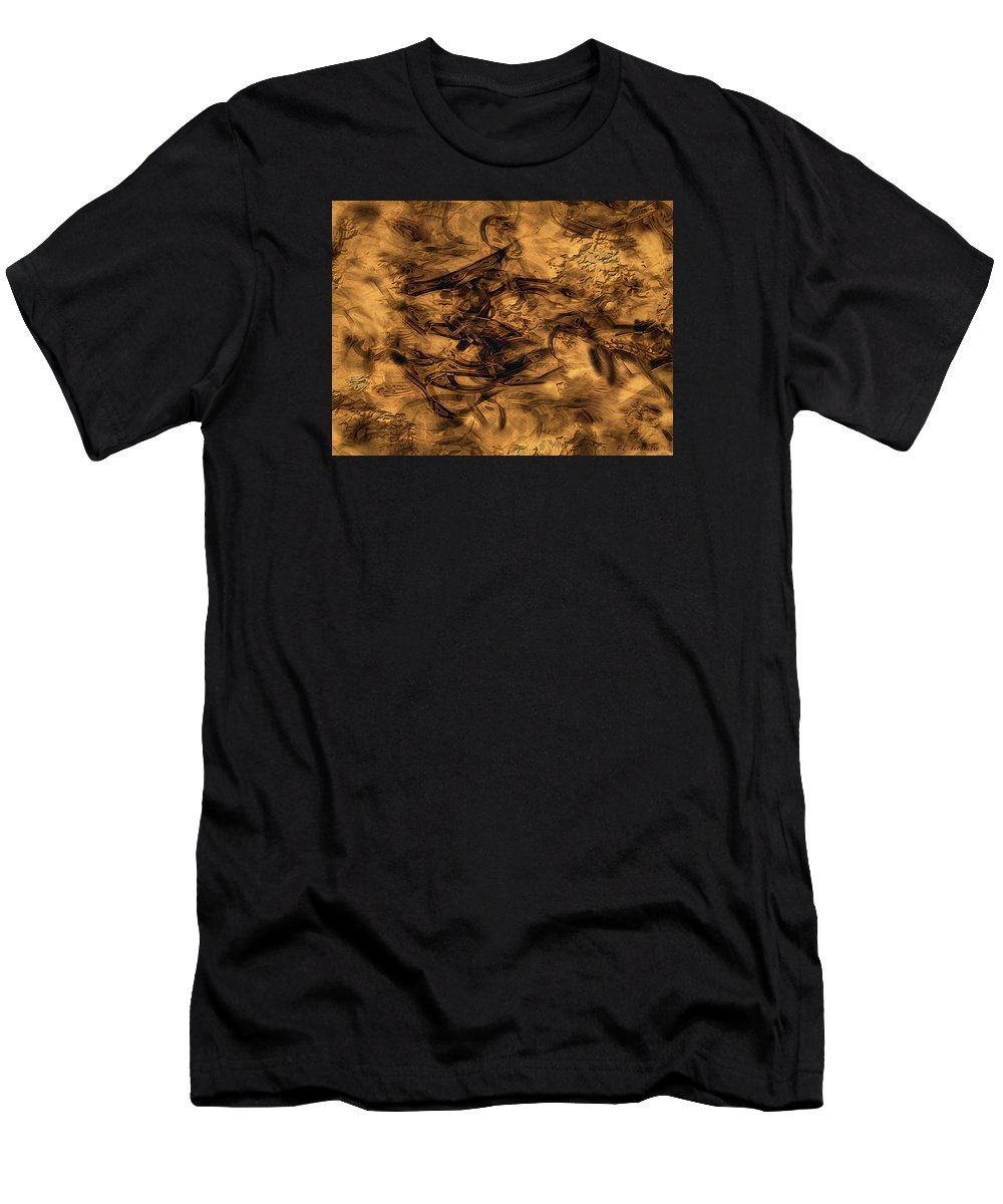Abstract Men's T-Shirt (Athletic Fit) featuring the painting Cave Painting by RC DeWinter