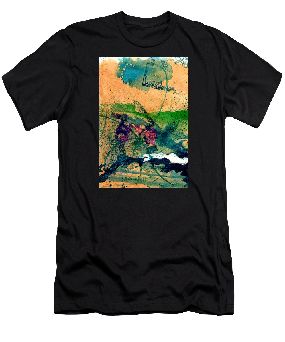 Abstract Paintings Men's T-Shirt (Athletic Fit) featuring the painting Celebration by Becky Chappell