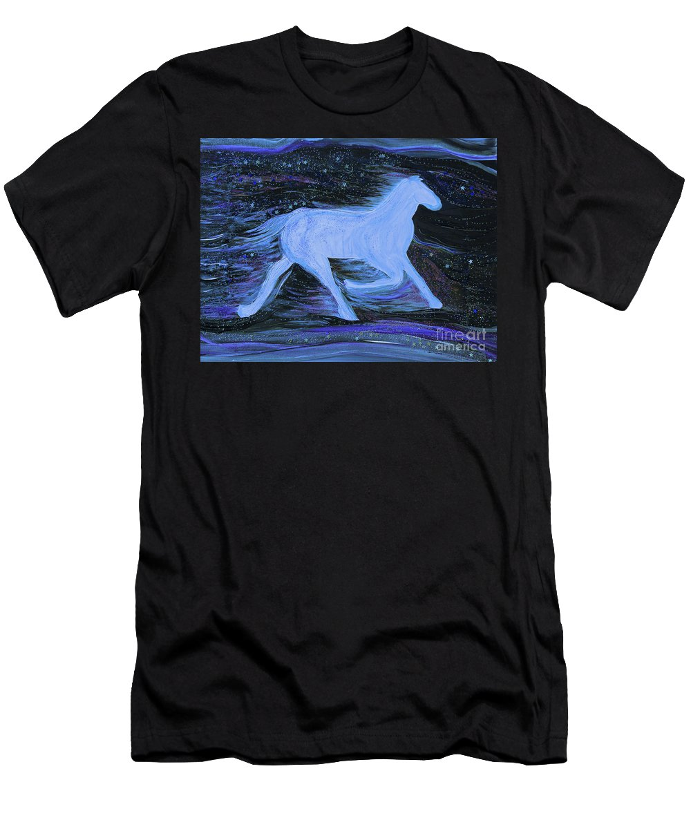 First Star Art Men's T-Shirt (Athletic Fit) featuring the painting Celestial By Jrr by First Star Art