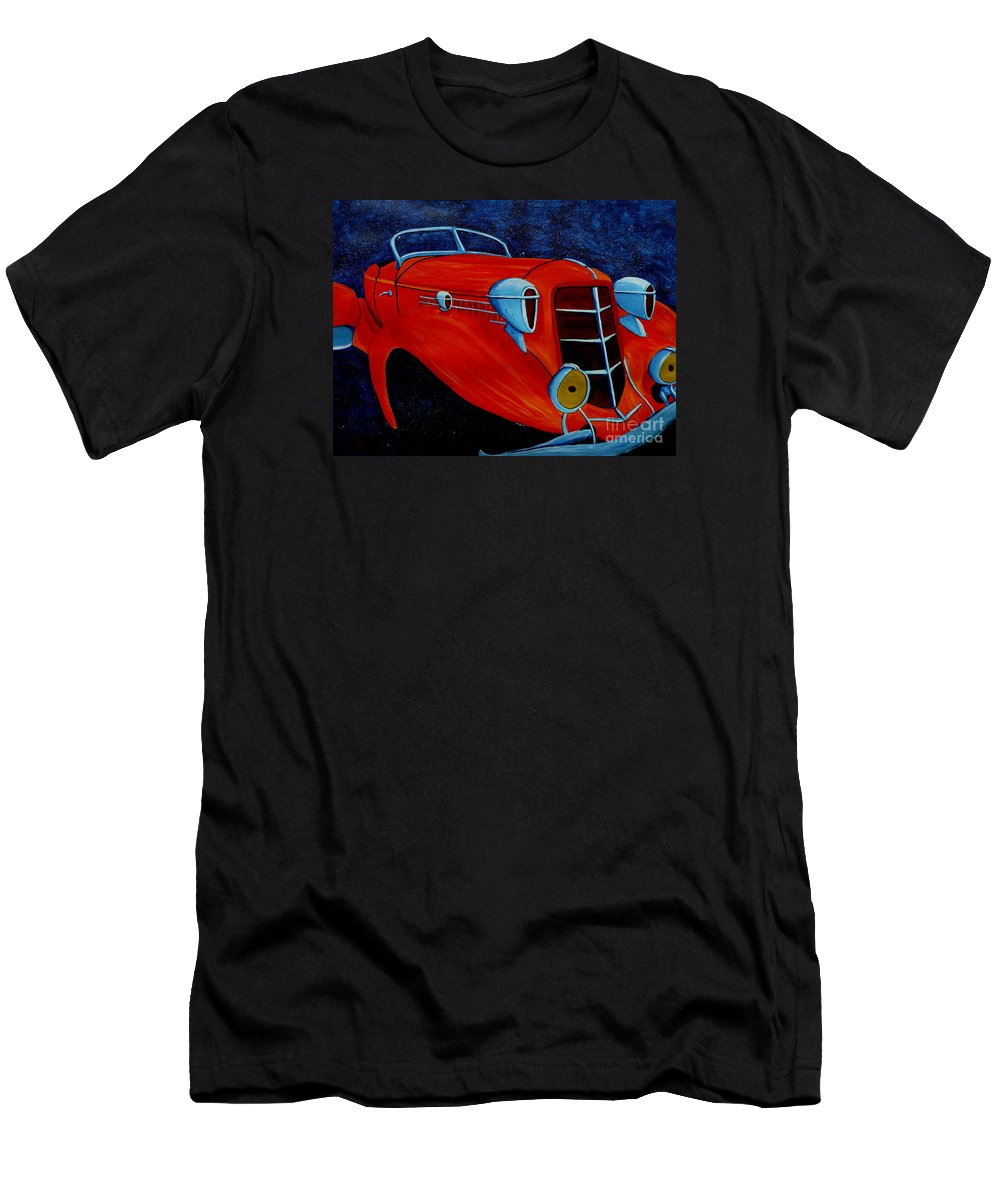 Auburn Men's T-Shirt (Athletic Fit) featuring the painting Cruising The Stars by Anthony Dunphy