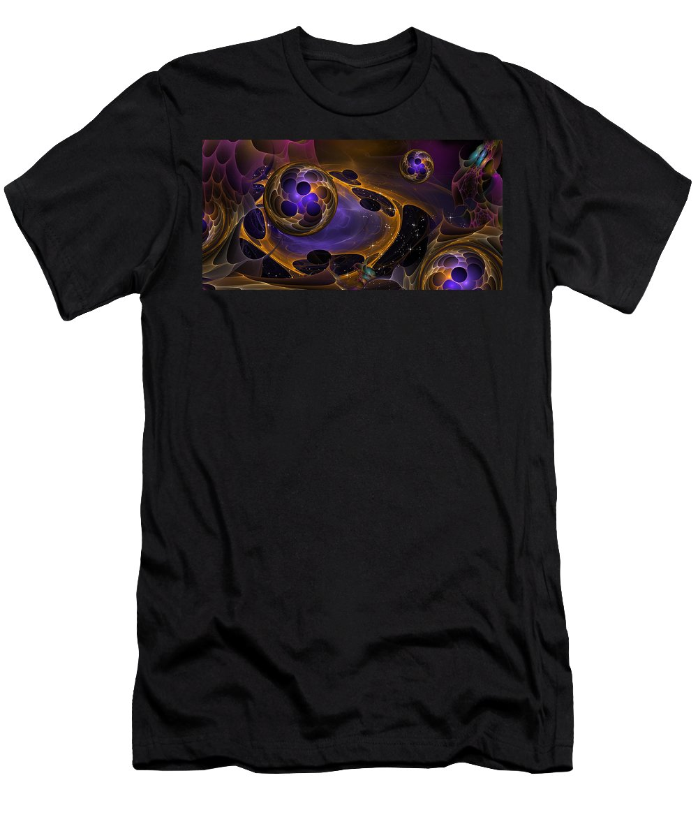 Phil Sadler Men's T-Shirt (Athletic Fit) featuring the digital art Cell Forms 2 by Phil Sadler