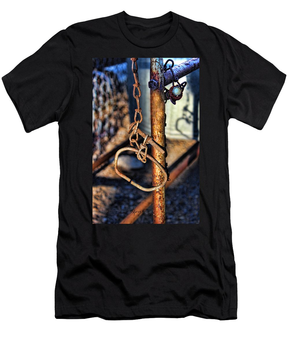 Chained Men's T-Shirt (Athletic Fit) featuring the photograph Chained by Sylvia Thornton